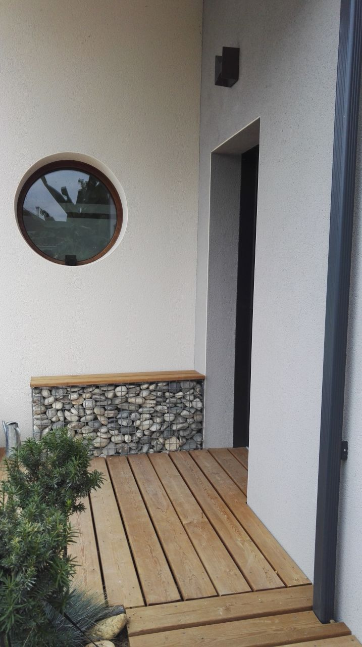Banc Sur Gabion Salon De Jardin Construccion Casa Casa Jardin