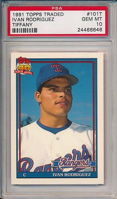 Ivan Rodriguez 1991 Topps Traded Tiffany 101t Rookie Card
