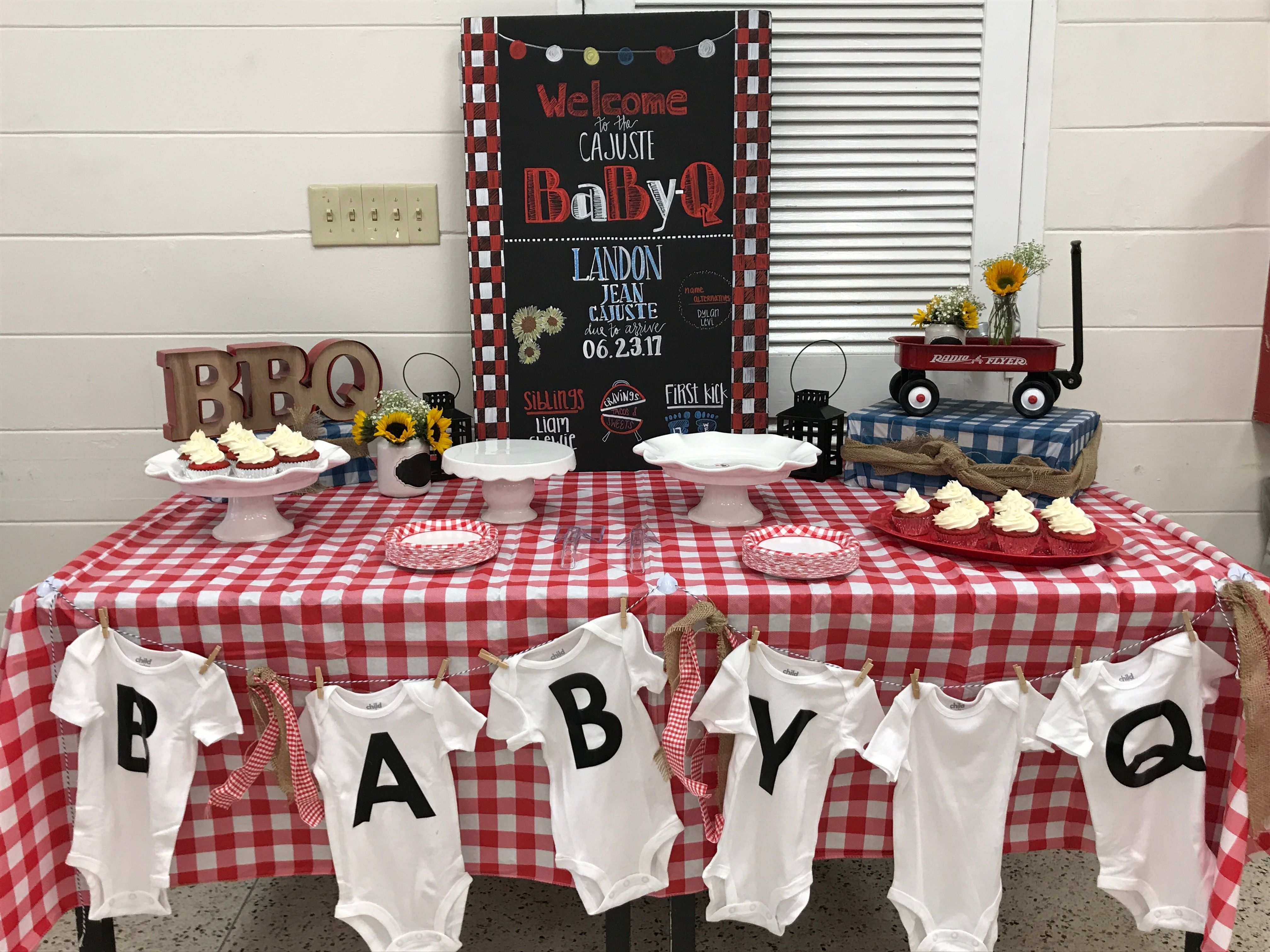 Baby Q Dessert Table Barbecue