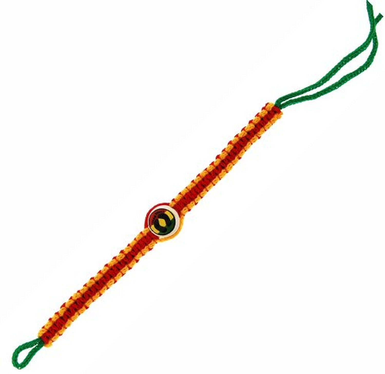 Wide Woven Bracelet with Feet