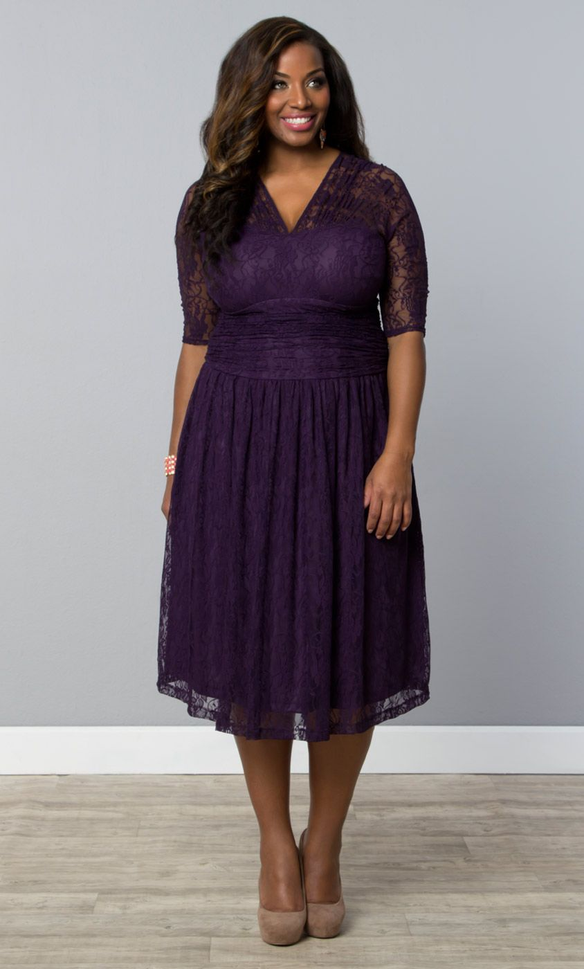 Lace And Majestic Purple Make The Perfect Combination For Our Plus