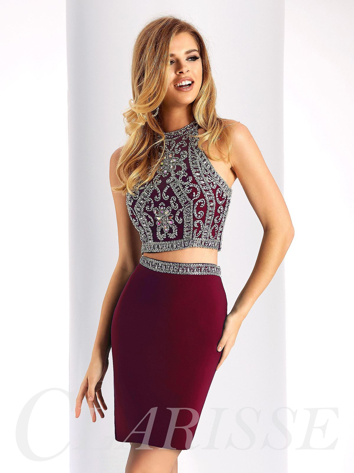 Sparkling two piece homecoming dress s homecoming dresses
