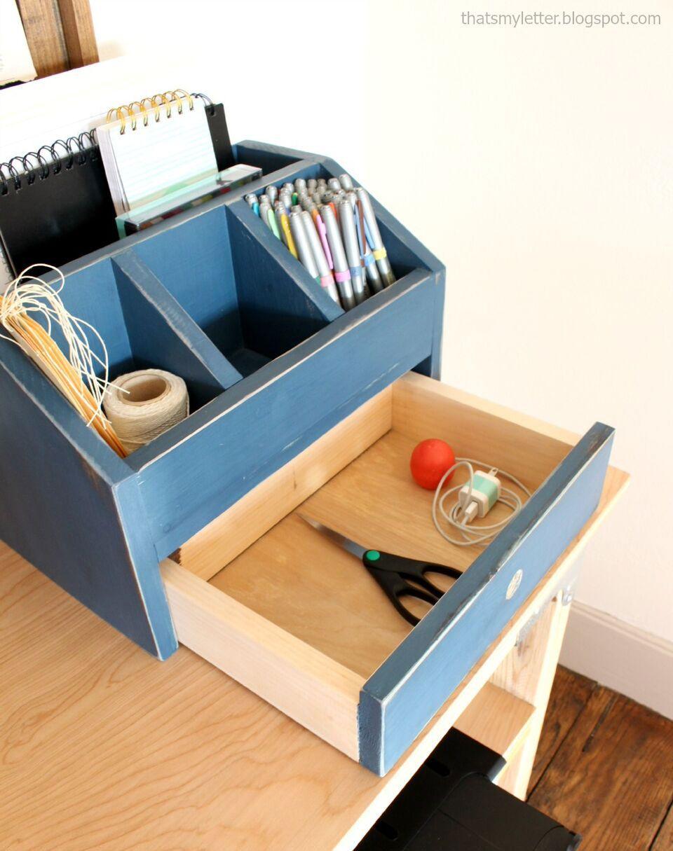Desktop Office Or Vanity Beauty Organizer Diy Desktop Beauty Organization Diy Wood Projects