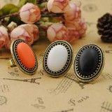 Joyería coreana wealthy personalizada moda retro oval anillos Cristalinos de la joyería al por mayor