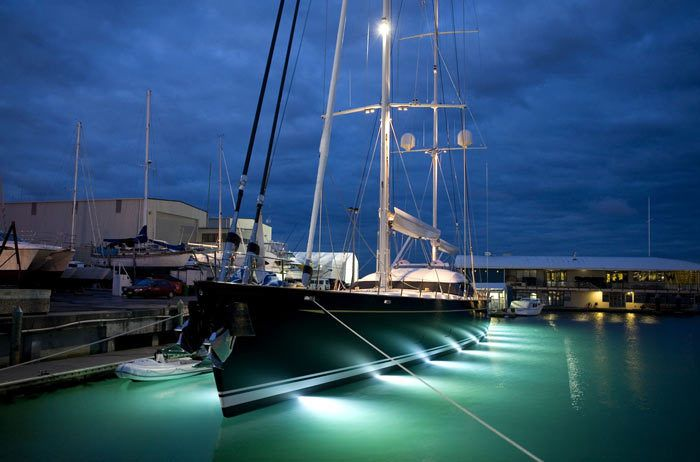 Underwater Lights Sailing Yacht
