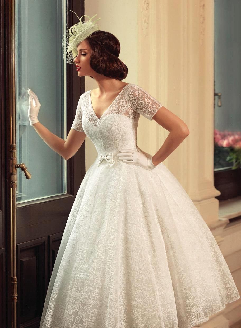 Vintage wedding tea dress  vintage tea length wedding dresses  Google Search  BManufaktura in