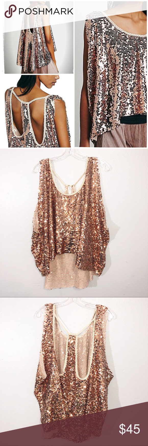 1251e7e8 Free People | Sequin Tank Free People | Sequin Tank New without tags Free  People oversized