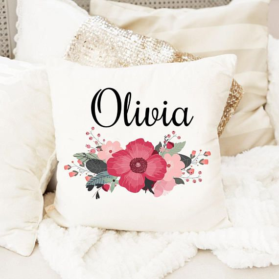 Personalized Name Pillow Floral Baby Gift Personalized Baby Pillow Baby Girl Gift New Baby Gift Papel De Parede De Fundo Papeis De Parede Parede De Fundo