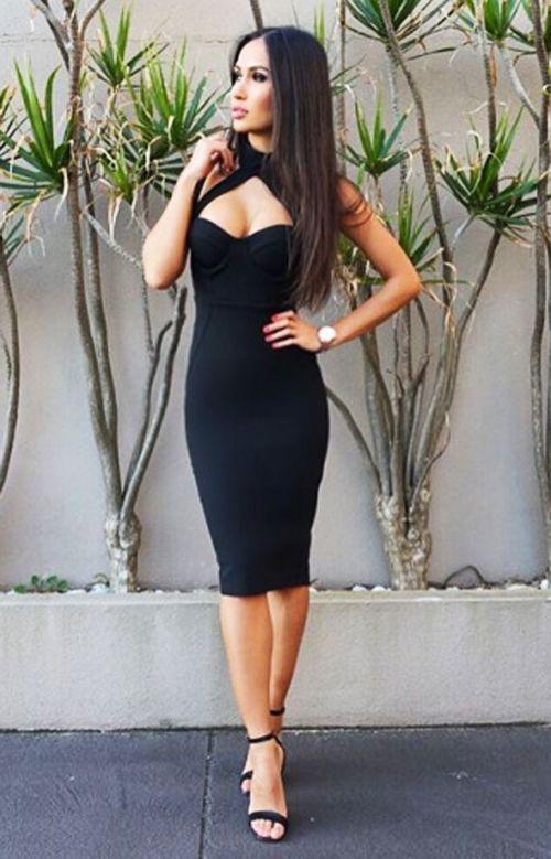 Erotic black dress