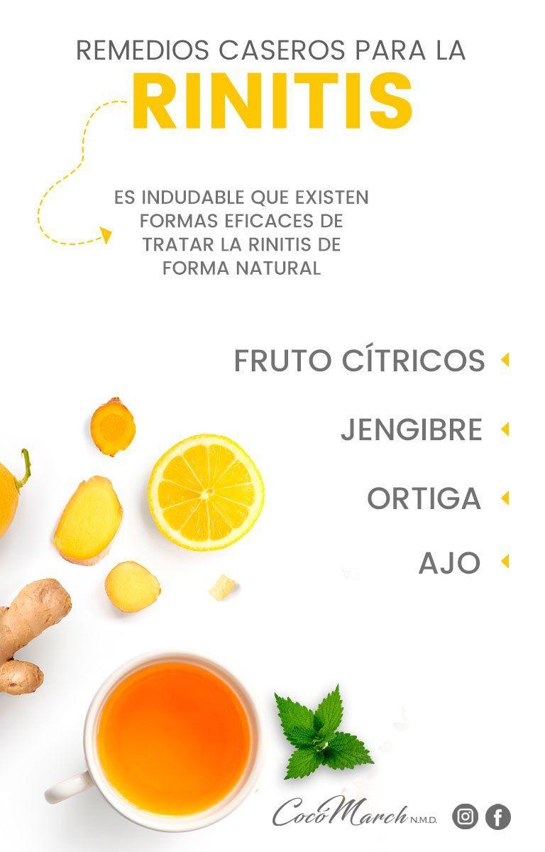 Cómo Combatir La Rinitis Alérgica De Forma Natural Coco March Nutrición Remedios Rinitis Alérgica