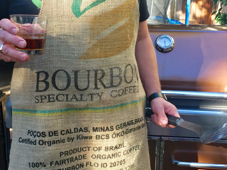 Bourbon Gift for Him/Coffee Bean Sack Apron/Coffee Gift