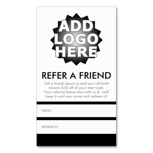 Refer a friend referral card pinterest business cards refer a friend business card i love this design it is available for customization or ready to buy as is all you need is to add your business info to this colourmoves