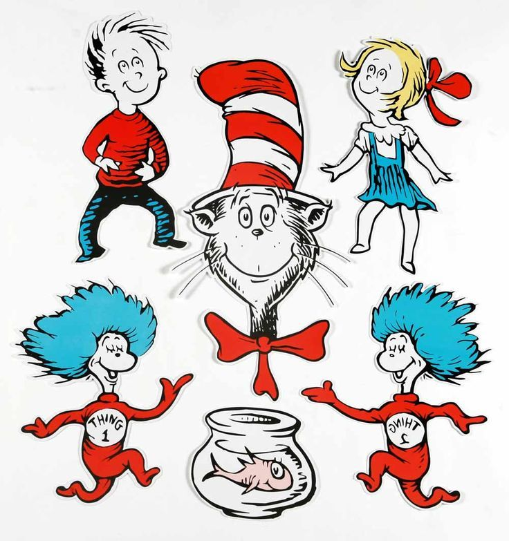 Amazing Dr Seuss Printable Characters Cat In The Hat 2 Sided Interior Design Ideas Truasarkarijobsexamcom
