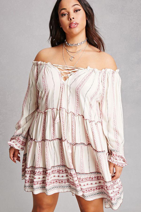 FOREVER 21+ Velzera Plus Size Peasant Dress   Plus Size Dresses and ...