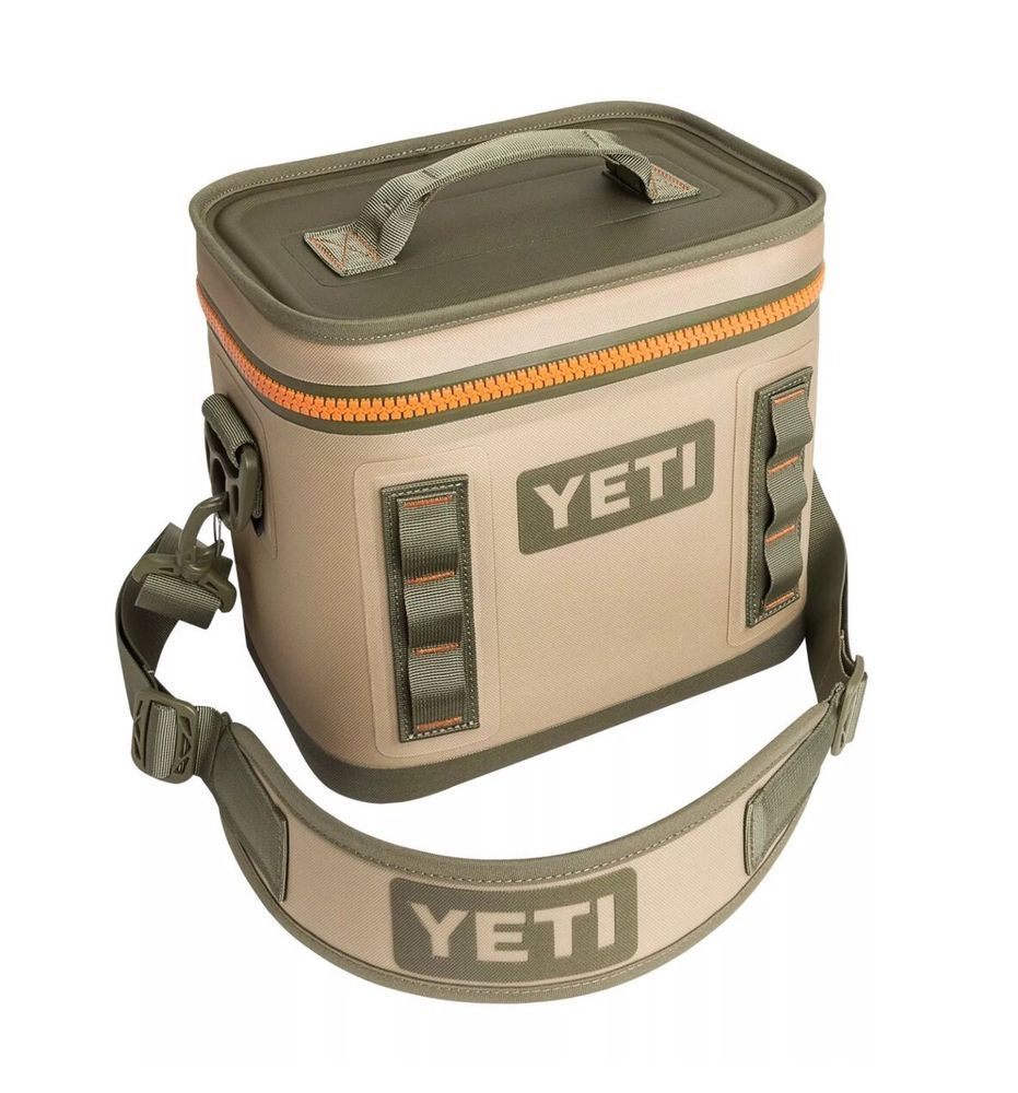 New Yeti Hopper Flip 8 Soft Side Tan Orange Cooler Bag Fast Shipping Yhopf8t Soft Sided Coolers Soft Cooler Yeti Coolers