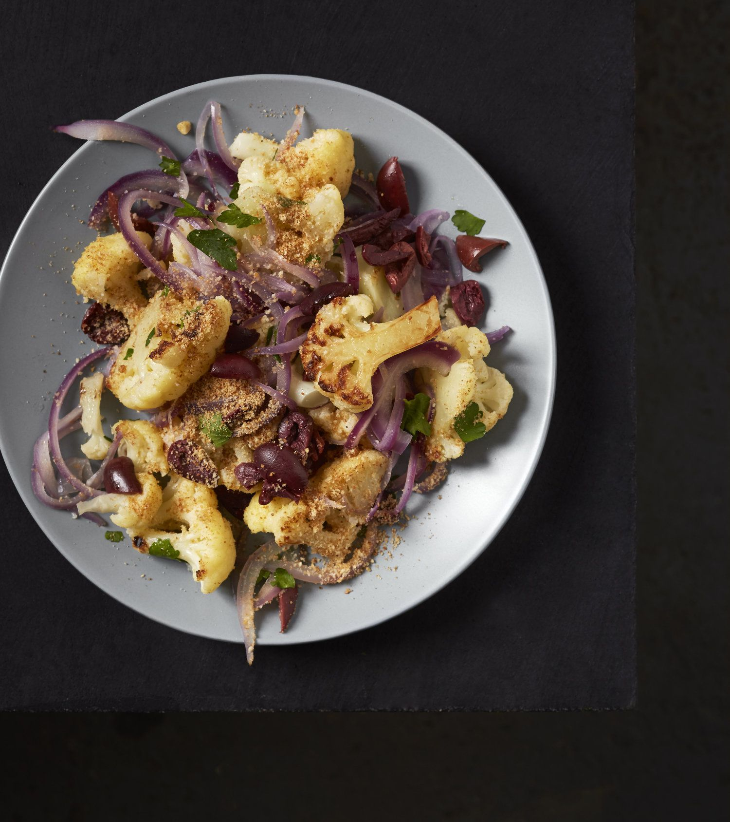 Cauliflower Salad With Olives And Bread Crumbs Cauliflower Salad
