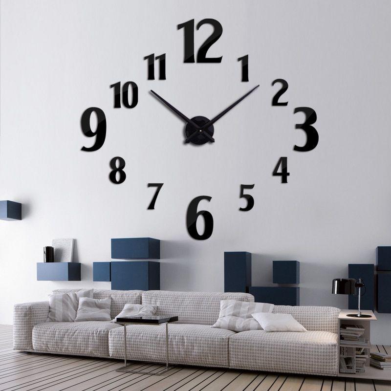 Relojes De Casa Nueva Moda Reloj De Pared Moderno Reloj De Cuarzo Relojes Salon Acrilico Espejo Relojes Casa Decoracion Todavia Vida Diy Pegatinas Big Wall Clocks Home Decor Home Decor Decals