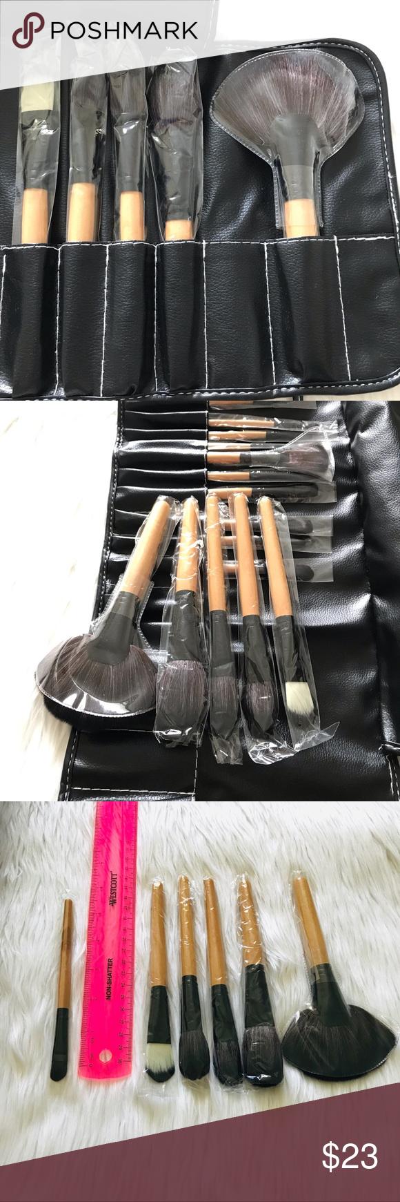 NEW MAKEUP BRUSH SET WITH CASE Makeup brush set, Makeup
