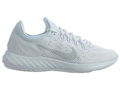 0e8143e6aff30 Nike Lunar Skyelux Womens 855810-100 White Platinum Mesh Running Shoes Size  9.5