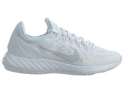 0e8143e6aff30 Nike Lunar Skyelux Womens 855810-100 White Platinum Mesh Running Shoes Size  9.5