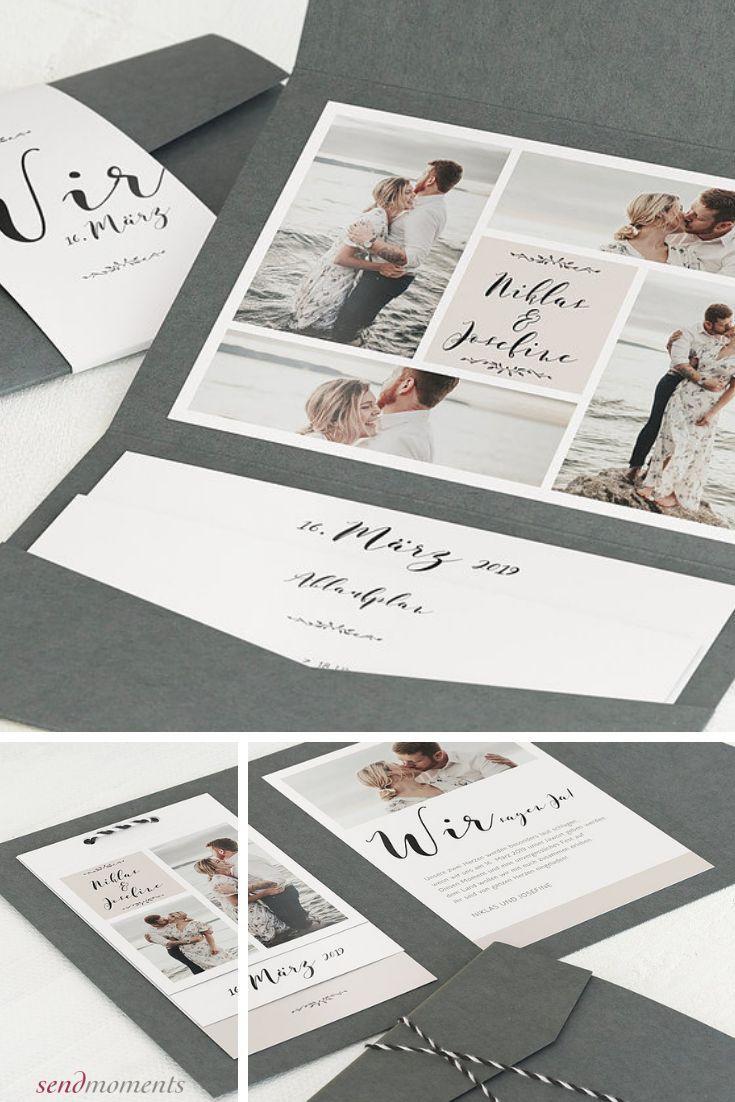 Hochzeitseinladung Blühende Zeit Detail