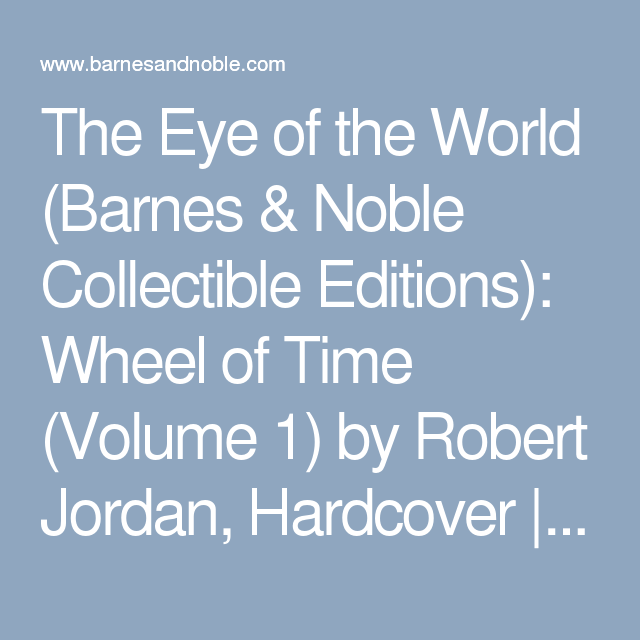 The Eye Of The World Barnes Noble Collectible Editions Wheel