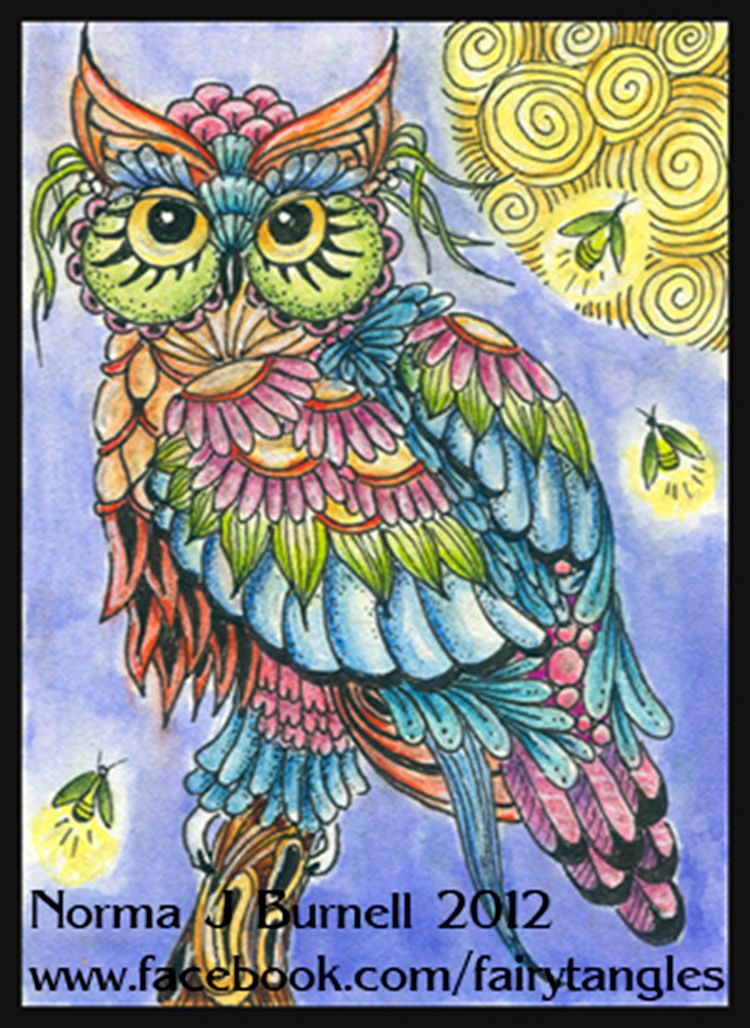 Owl Par Norma Burnell Owl Artwork Owl Painting Owls Drawing