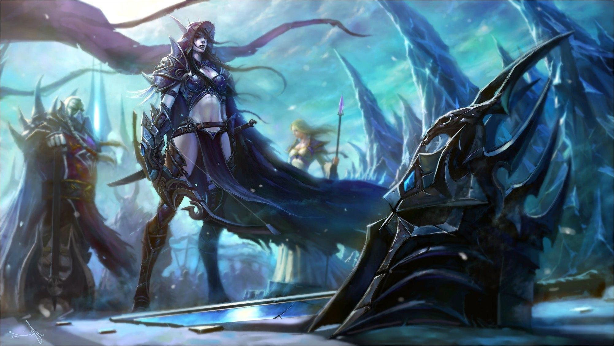 1920 215 1080 4k Lich King Wallpaper In 2020 Warcraft Art World Of Warcraft Wallpaper Sylvanas Windrunner