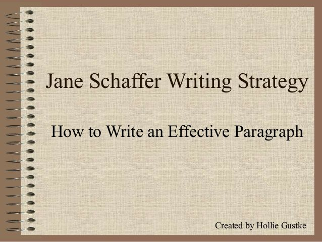 jane schaffer paragraph writing three pigs