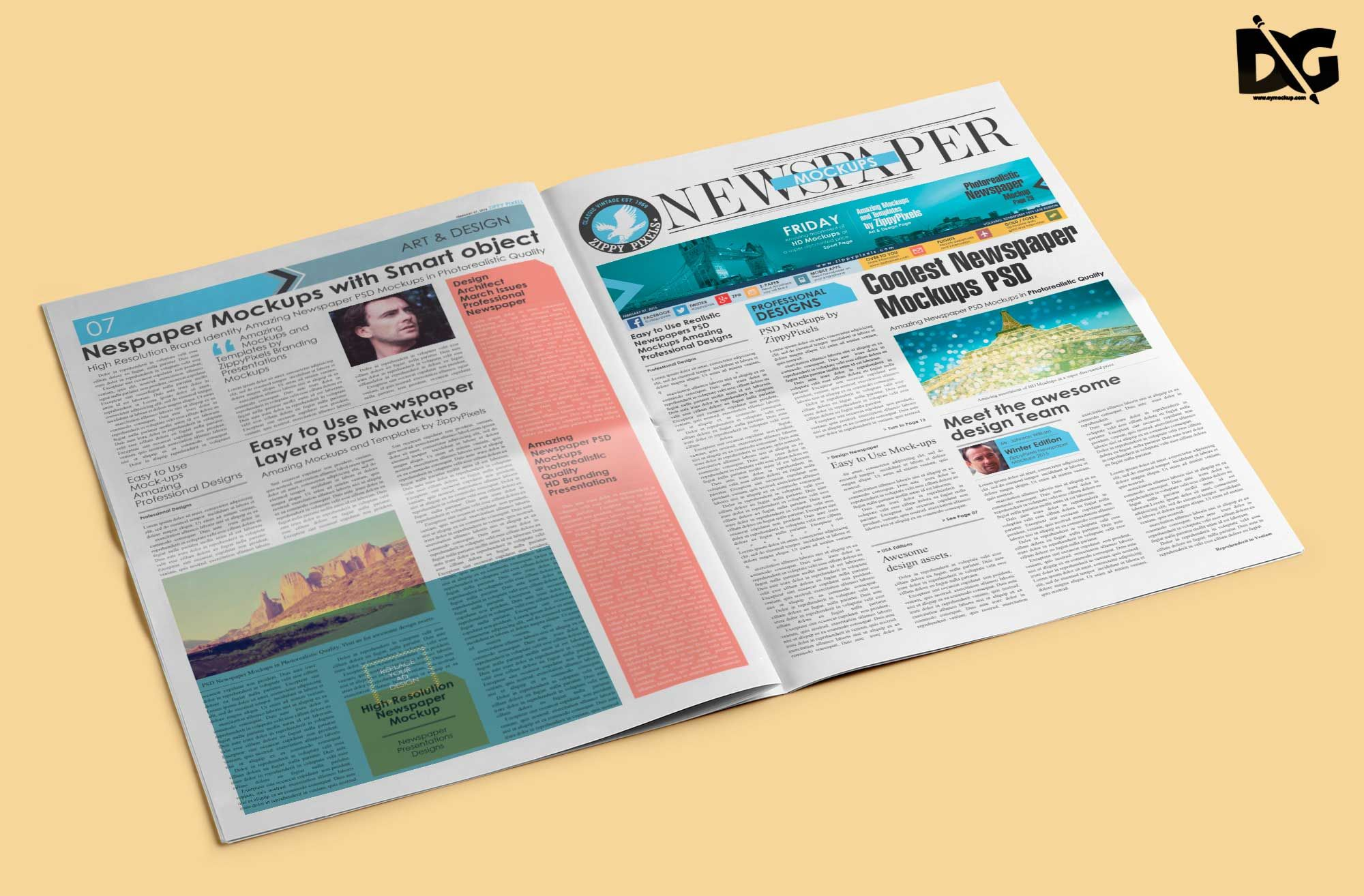 Now Showcase Your Logo Designs In A More Professional Way Using These Psd Free Open Newspaper Mockup Templates Show Yo In 2021 Mockup Free Psd Free Mockup Logo Mockup