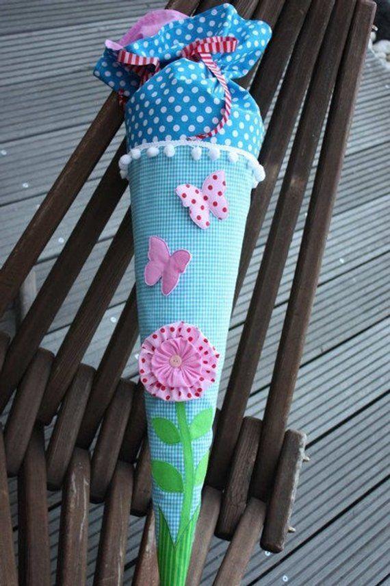 School bag sugar bag flower and butterflies