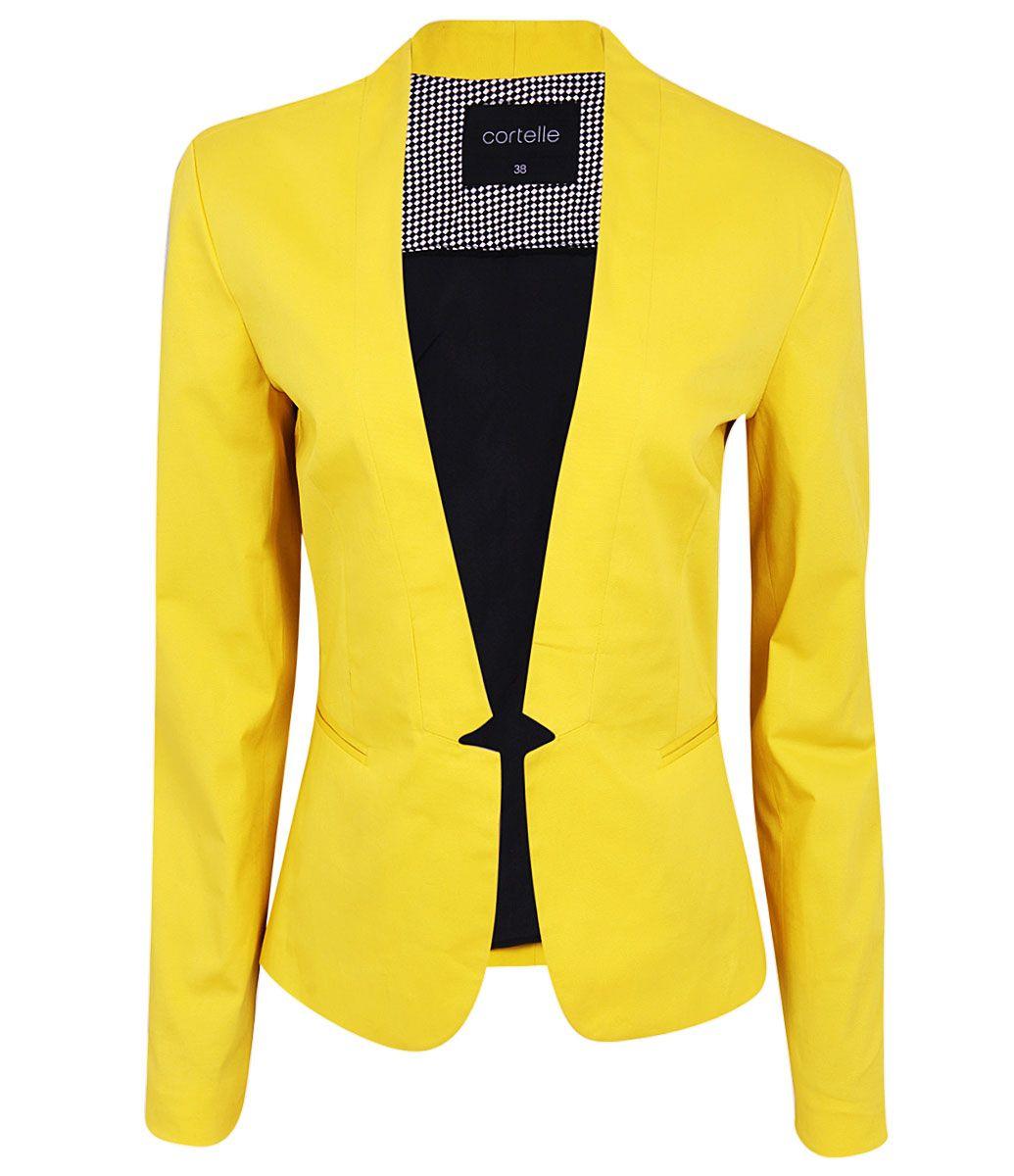 c3615dd000 Resultado de imagem para blazer feminino acinturado amarelo ...