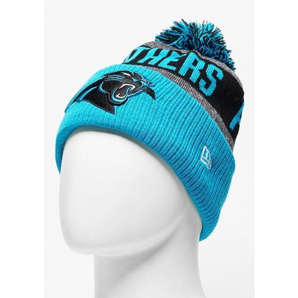 b499e2195bad2 New Era Beanie Sideline Bobble Knit NFL Carolina Panthers official