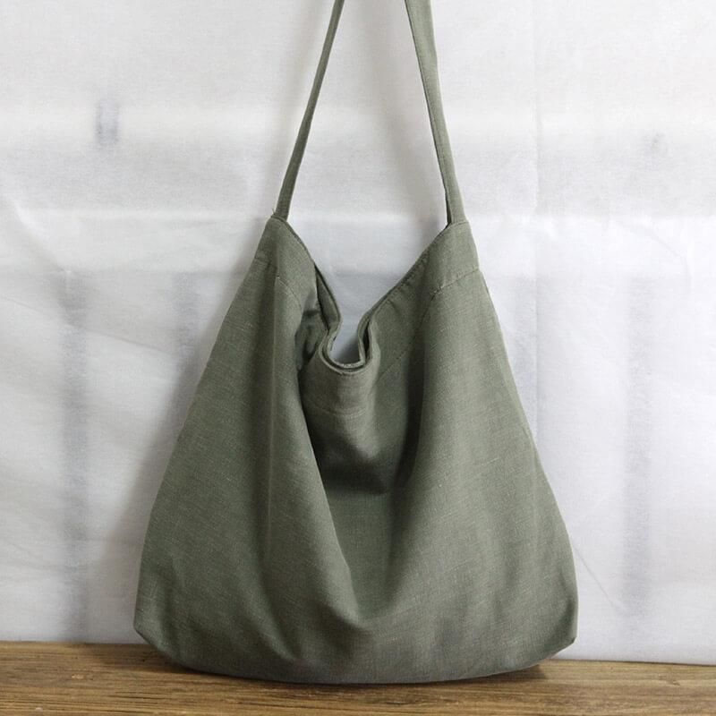 Women's Leisure Large Cotton/Linen Single Shoulder Bag 1726