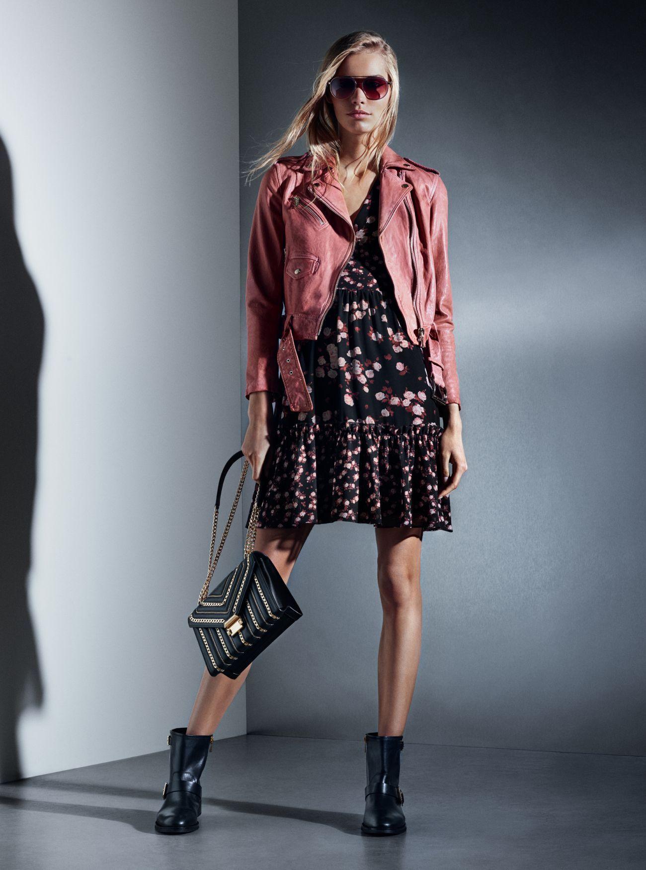 Moto Jacket, Rose Dress, Whitney