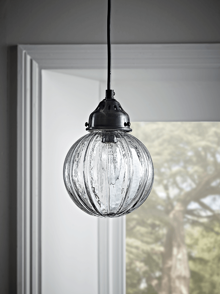 Fluted Glass Pendant - Round (With images) | Bathroom ...