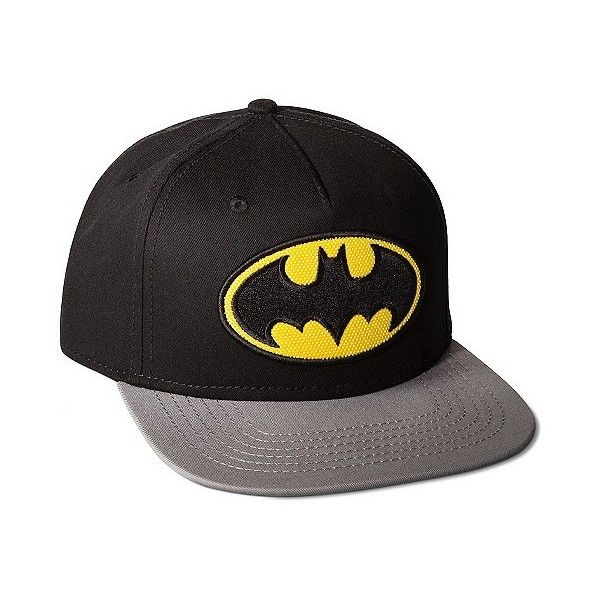 282db0b0375 Men s Batman Baseball Hat Black ( 15) ❤ liked on Polyvore featuring men s  fashion