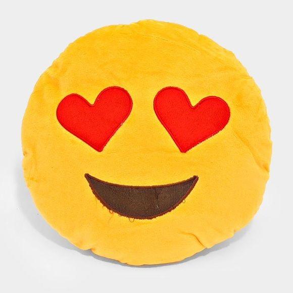 Heart Eyes Emoji Pillow Emoji Pillows Eyes Emoji Yellow Theme