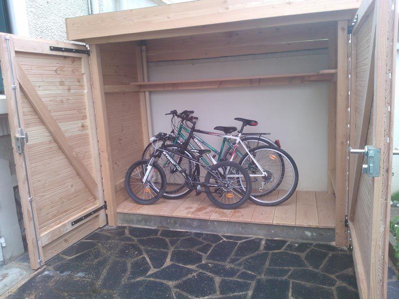 Abri à vélos en bois sur mesure. Construction, pose d\'abris ...