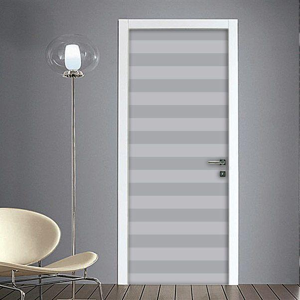 Adesivo per Porte Righe Orizzontali Bianco Nero nel 2020