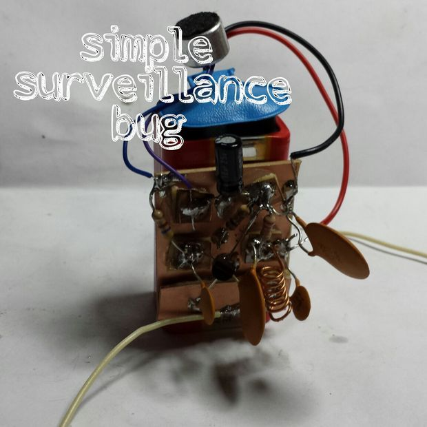 Simple Surveillence Bug | Tech, Diy electronics and Arduino
