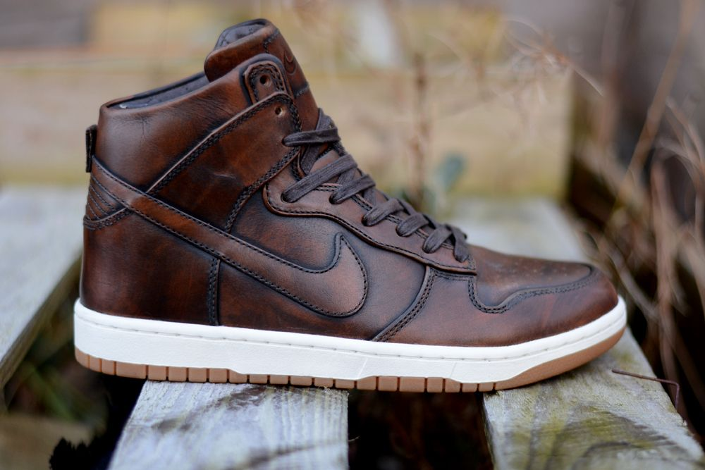 "The new Nike Dunk Lux High ""Burnished Leather"""
