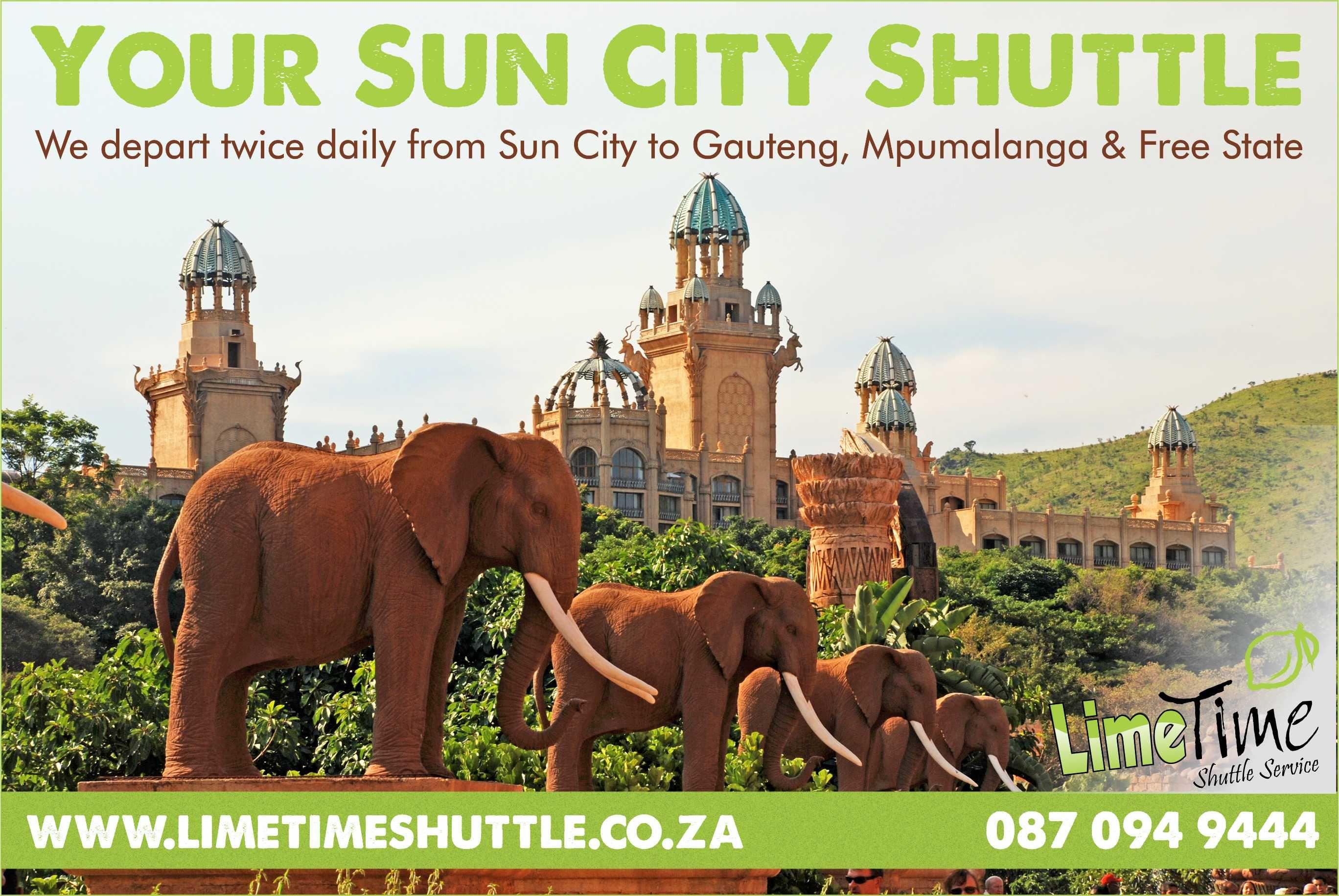 Sun City Shuttle Sun city resort, Sun city, Shuttling