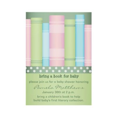Bring a Book - Storybook - Baby Shower Invitations by youreinvited