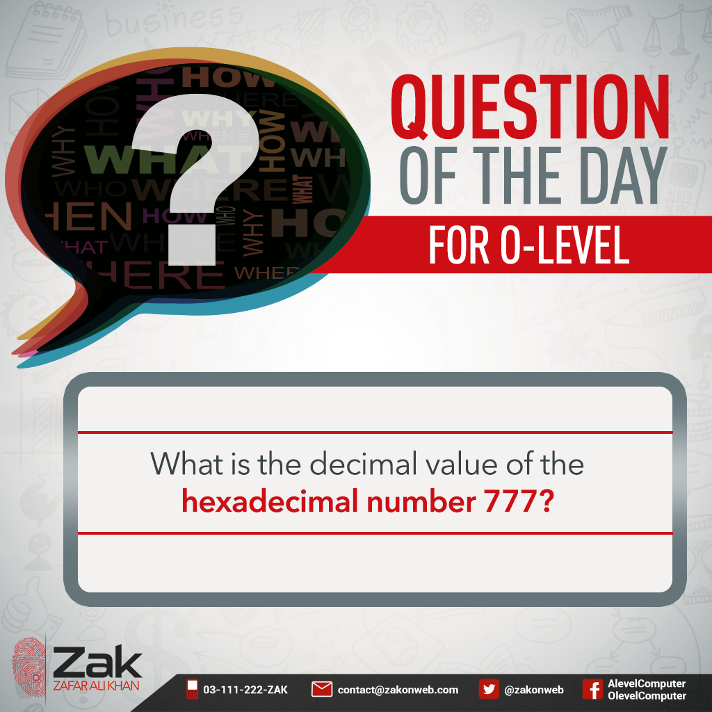 Revision always helps in improving your understanding of the subject and further strengthening your concepts. Can you tell me the right answer? #Olevel #Alevel #ComputerScience #CIE #ZakOnWeb