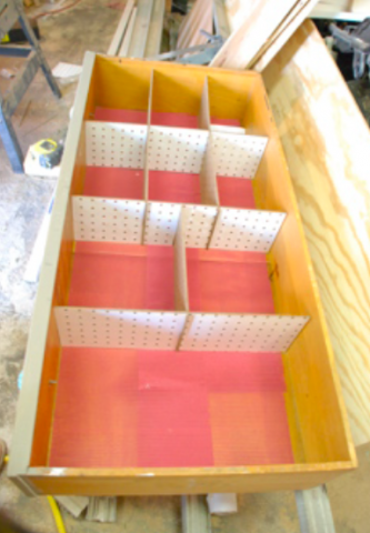Diy Drawer Dividers Out Of Cardboard Or Peg Board Slotted For