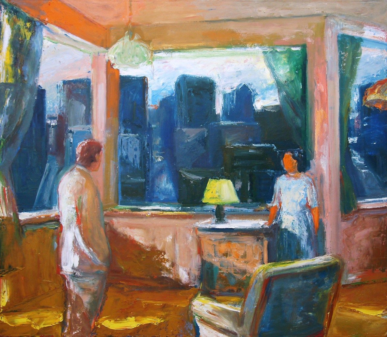 urgetocreate:  Elmer Bischoff, Yellow Lampshade, 1969