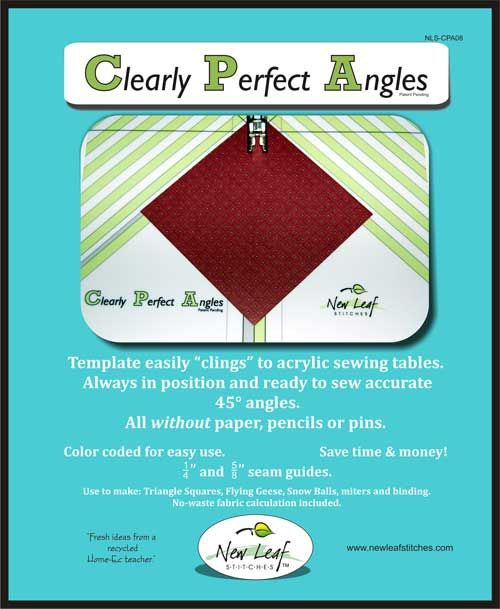 template easily clings to acrylic sewing tables always in