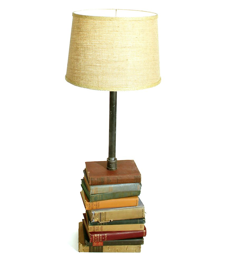 Tall Vintage Books Reading Lamp