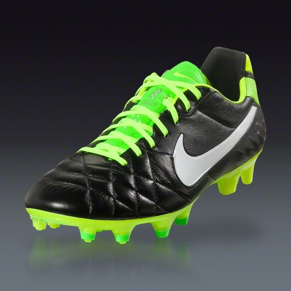 Nike Tiempo Legend Iv Black Electric Green White Firm Ground Soccer Shoes Soccer Com Soccer Shoes Sport Shoes Shoes